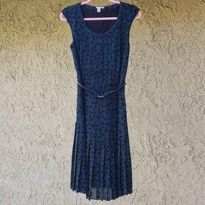 Halogen teal and black dress